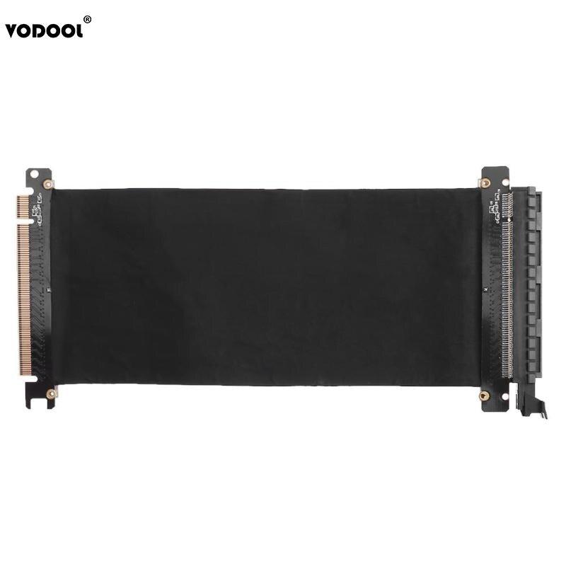 VODOOL 24 cm alta velocidad PC tarjetas gráficas conector PCI Express Riser Card Cable PCI-E 16X Cable Flexible puerto de extensión adaptador