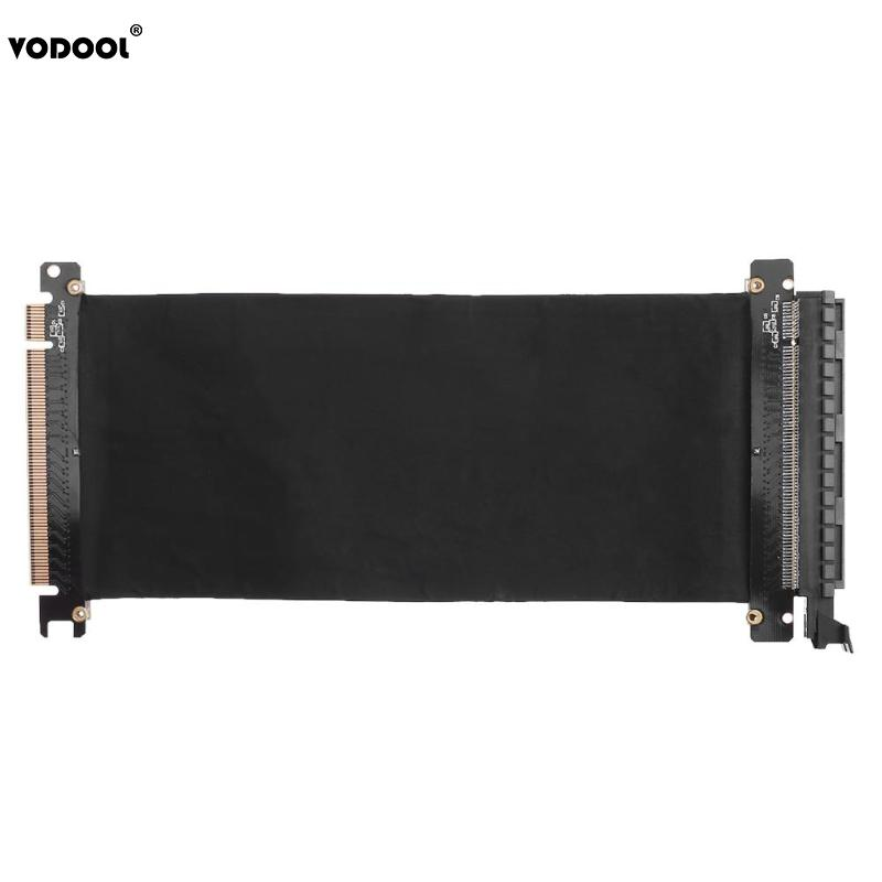 VODOOL 24cm High Speed PC Graphics Cards PCI Express Connector Cable Riser Card PCI-E 16X Flexible Cable Extension Port Adapter vodool 24cm high speed pc graphics cards pci express connector cable riser card pci e 16x flexible cable extension port adapter