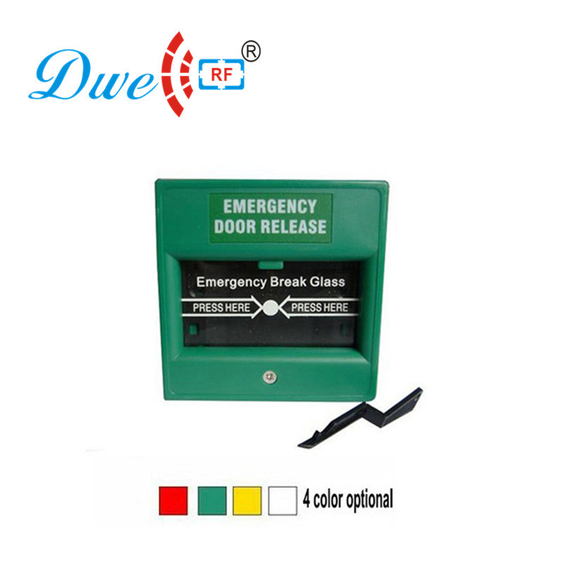 DWE CC RF Emergency Exit Button Fireproof Break Glass Release Button Rfid Switch 12V Push Exit DW-B05 exit wound