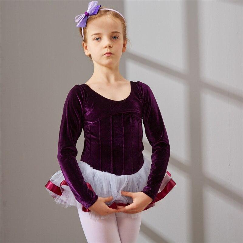 Балетное танцевальное платье пачка балетное танцевальное платье для девочек Дети высокого качества Тюль с длинным рукавом танец Балет      АлиЭкспресс