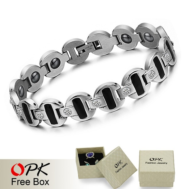 JEWELRY Fashion Gift Men's Stainless Steel Magnetic Bracelet Health Care New Trendy Jewelry, n3342