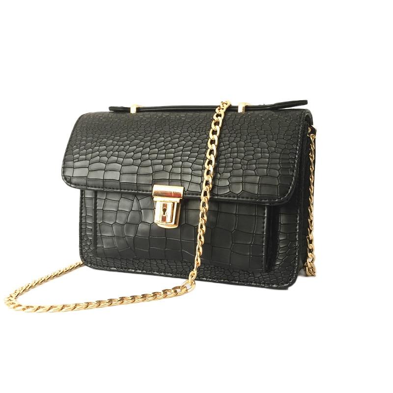 Fashion MINI Chain Bag Women 2016 New Korean Style Cheap Shoulder Bag Crocodile print Flap Push