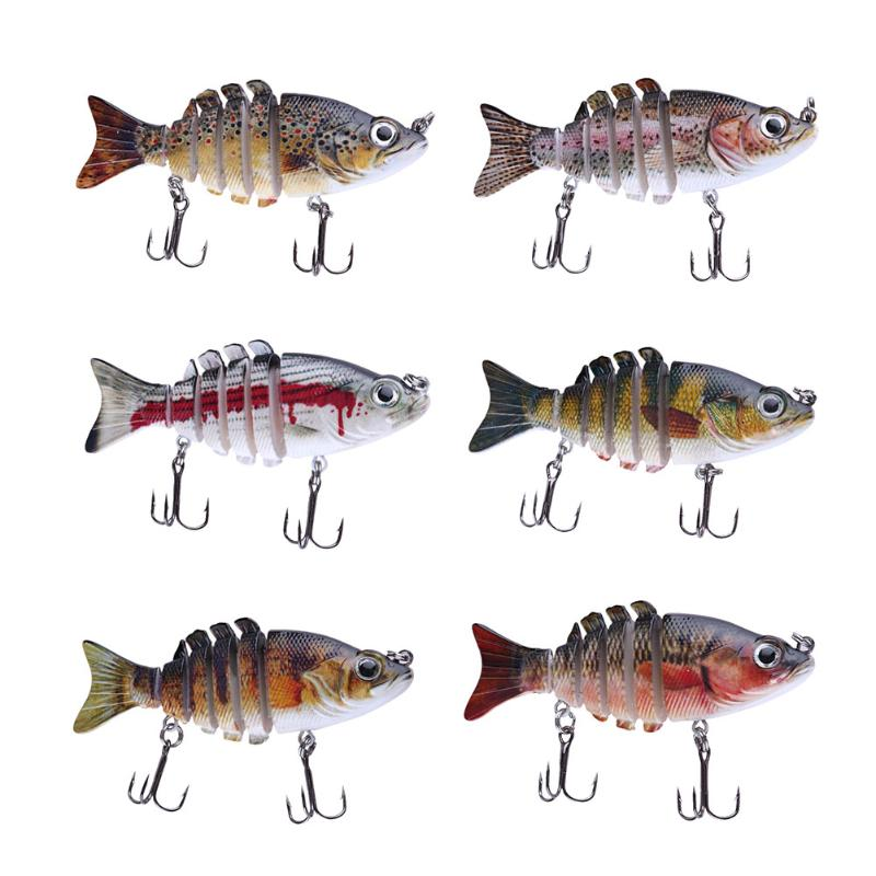 1Pcs 20g Wobblers Fishing Lure 6 Segment Crankbait Swimbait Fish Lure Isca Artificial Bait With Hook Fishing Tackle Pesca New trulinoya 6cm 16g fly fishing lure vmc hook fishing hard bait crankbait wobblers artificial bait for sea carp fishing pesca