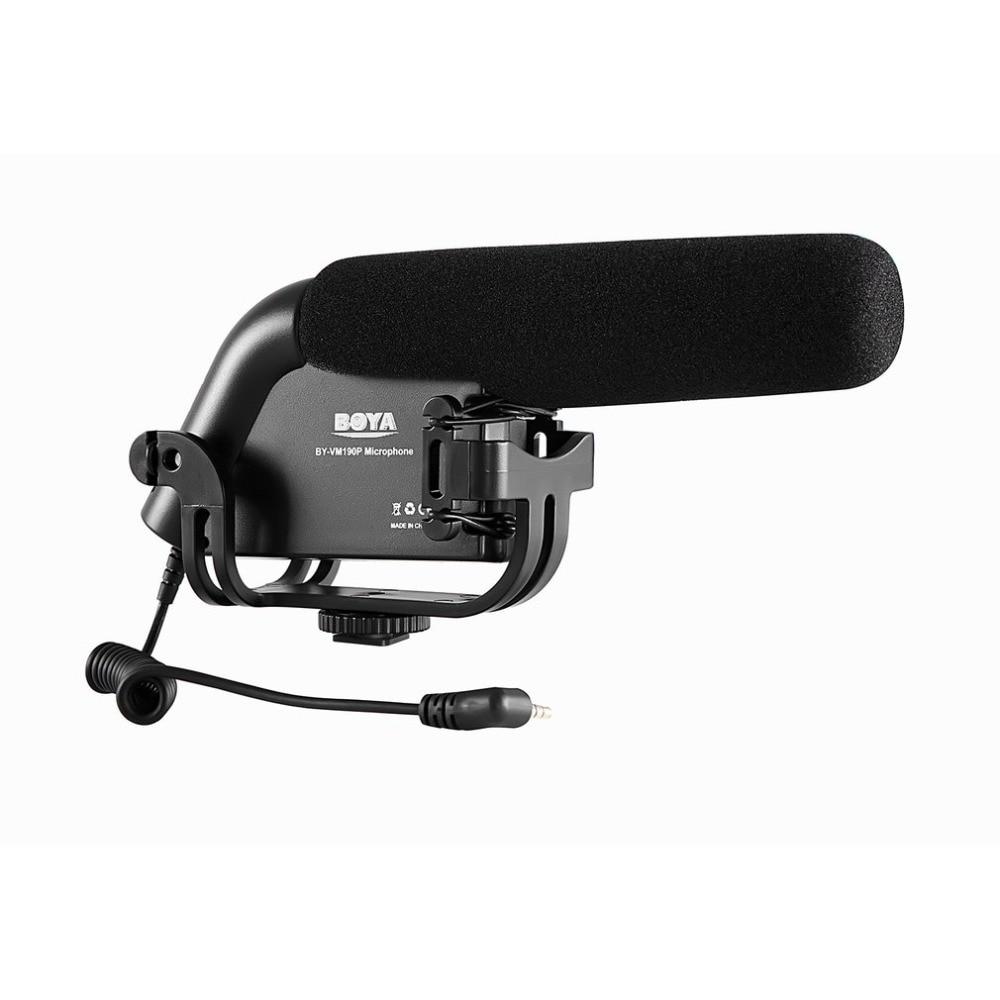 BOYA BY-VM190P 3.5mm Standard Interface Shockproof Windproof Microphone Stereo Video Camcorder DSLR Camera DV Audio Recorder микрофон fujimi by vm190p