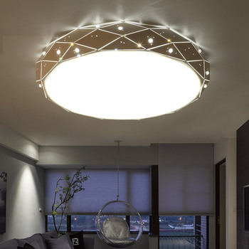 2018 Modern simple Diamond crystal LED ceiling lamp warm and  lamplight ceiling lights for living room bedroom lamp
