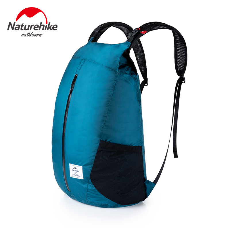 Naturehike Outdoor Shoulder Folding Backpack Ultra Light Waterproof Light Skin Bag Travel Storage Bag Waterproof YKK Zipper