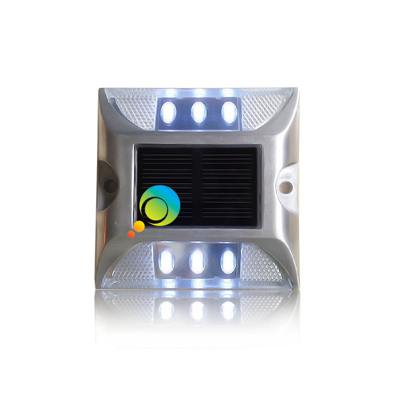 Steady mode CE approved LED flashing light aluminum solar power road stud