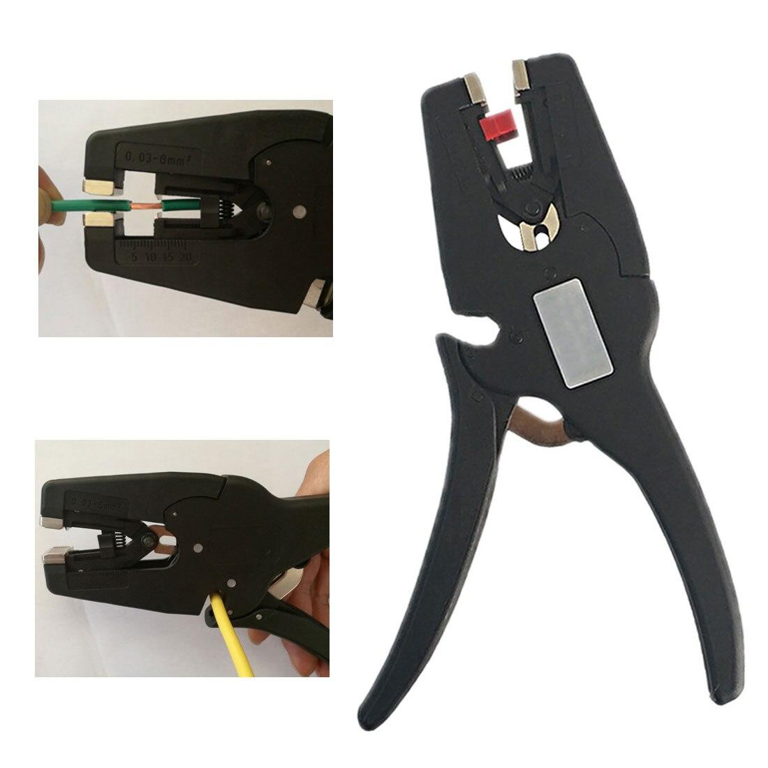 Wire Stripper Self-Adjusting Range 0.03-10mm2 Stripping Cutter Flat Insulation Pliers