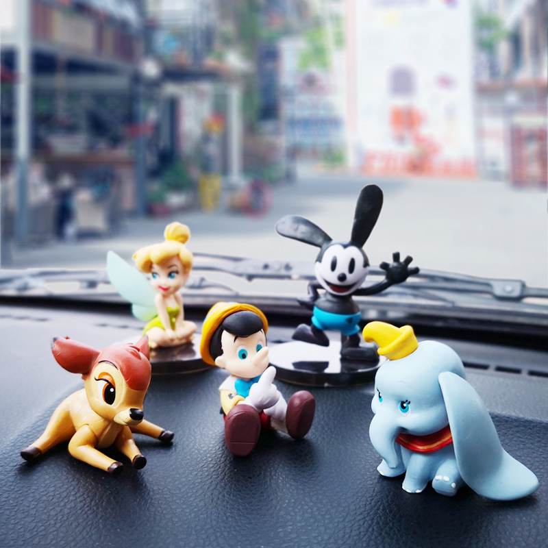 Hingebungsvoll Cartoon Auto Innen Liefert Mickey Maus Dumbo Auto Monster Auto Dekoration Spielzeug Puppe Puppe Set