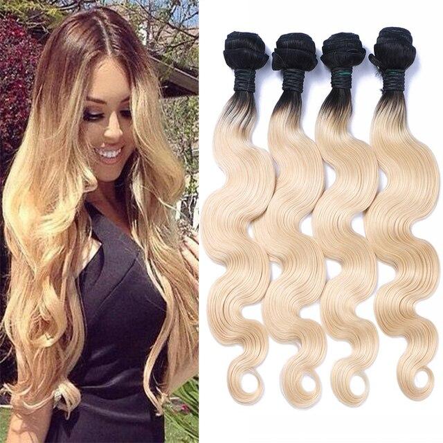 Cheap Vietnamese 1b613 Blonde Ombre Human Hair Extension 4pcs