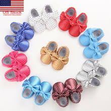 Newborn Baby Kid Girl Princess Cute Crib Shoes Soft Sole Pram Antislip Prewalker(China)
