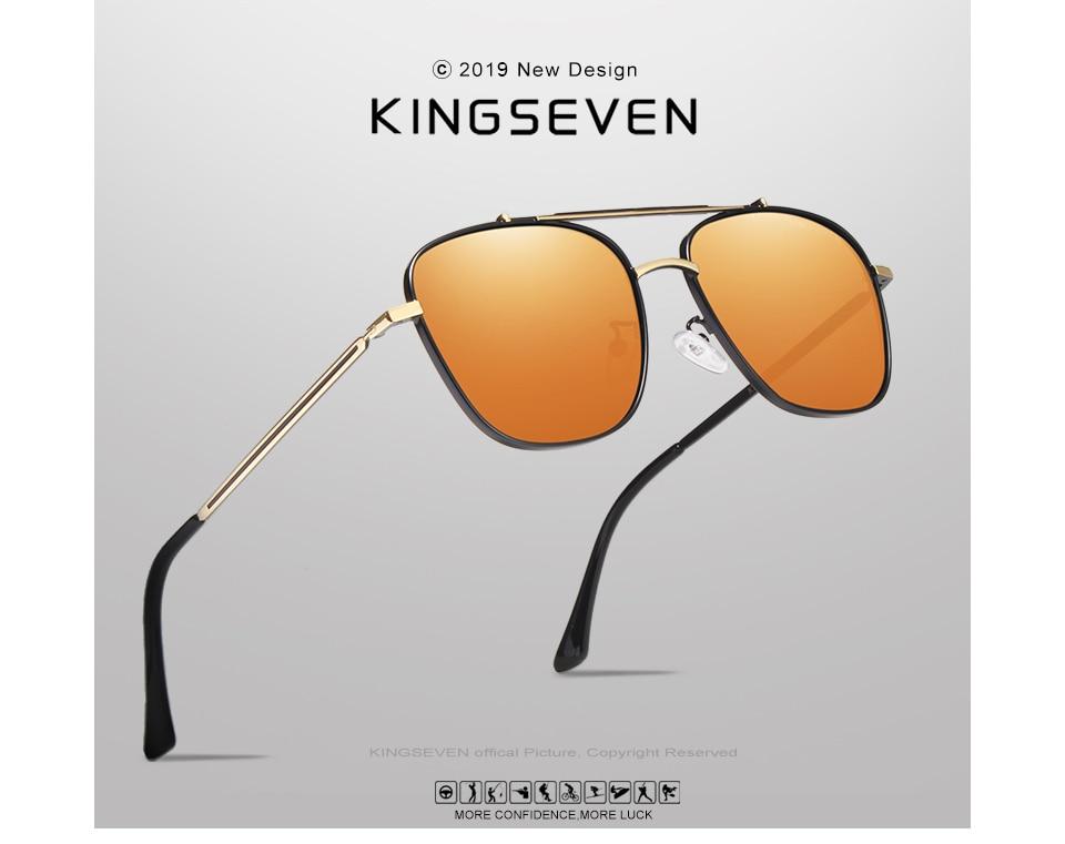 KINGSEVEN BRAND DESIGN Driving Male Sunglasses Men Polarized Sun glasses Fashion Style Eyewear UV400 Gafas De Sol Masculino
