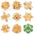 9DESIGN / lot. alta calidad de la madera 3D entrelazado, Kong ming bloqueo, formación IQ juguetes, cubos mágicos. Puzzle cube. juguetes clásicos. envío gratuito