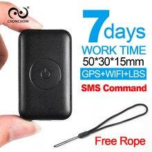 ChonChow Mini GPS Tracker Children 7 Days Work Time GPS/WIFI/LBS Micro Gps Tracker Bike Moto GSM GPS Locator Mini Tracker