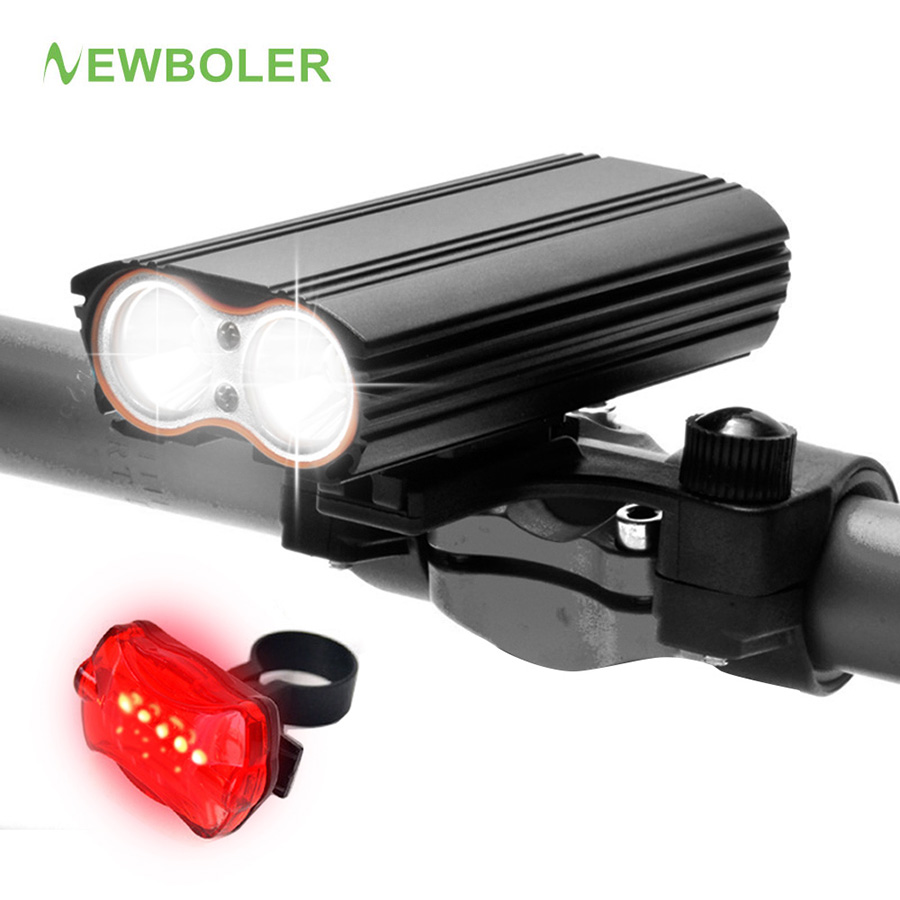NEWBOLER 7000Lumen XM-L T6 LED Bike Light USB Bicycle Lights Rechargeable Lamp Torch Flashlight Cycling Accessories waterproof usb rechargeable flashlight xm l t6 led bike front light 4 modes bicycle light for bycicle cycling accessories