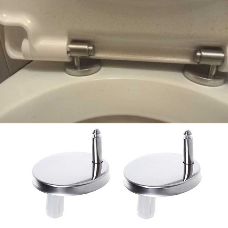 Toilet Seat Hinges Replacement Seat Fittings Stainless Steel Silver Pack of 2