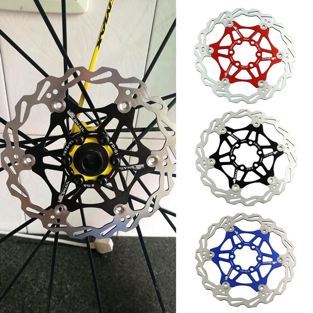 Snail Floating Rotors MTB Disc for Shimano 160//180//203mm w// 6 Bolt