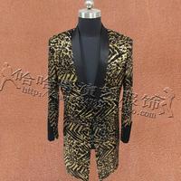 Leopard блестки костюмы мужские певцов конструкции masculino homme terno этап персонализированные куртки мужские blazer star стильное платье в стиле панк