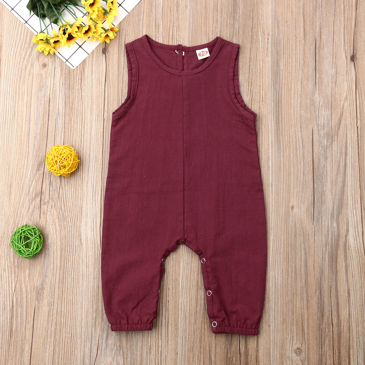Kids Baby Boy Girls Infant Sleeveless Romper Summer One-piece Newborn Toddlers Children Cotton Jumpsuit Clothes Outfit