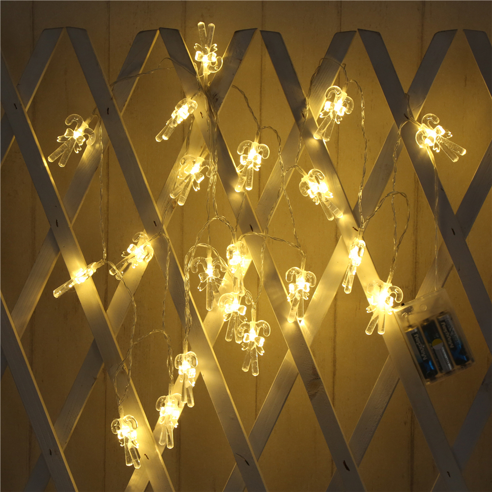 Fairy LightsCrutches String Light 1.5M-10M,10L/20L/40L/96L,3AA/31V US/EU Room Weding Party Wall Window Home Decoration Children Night Lamp
