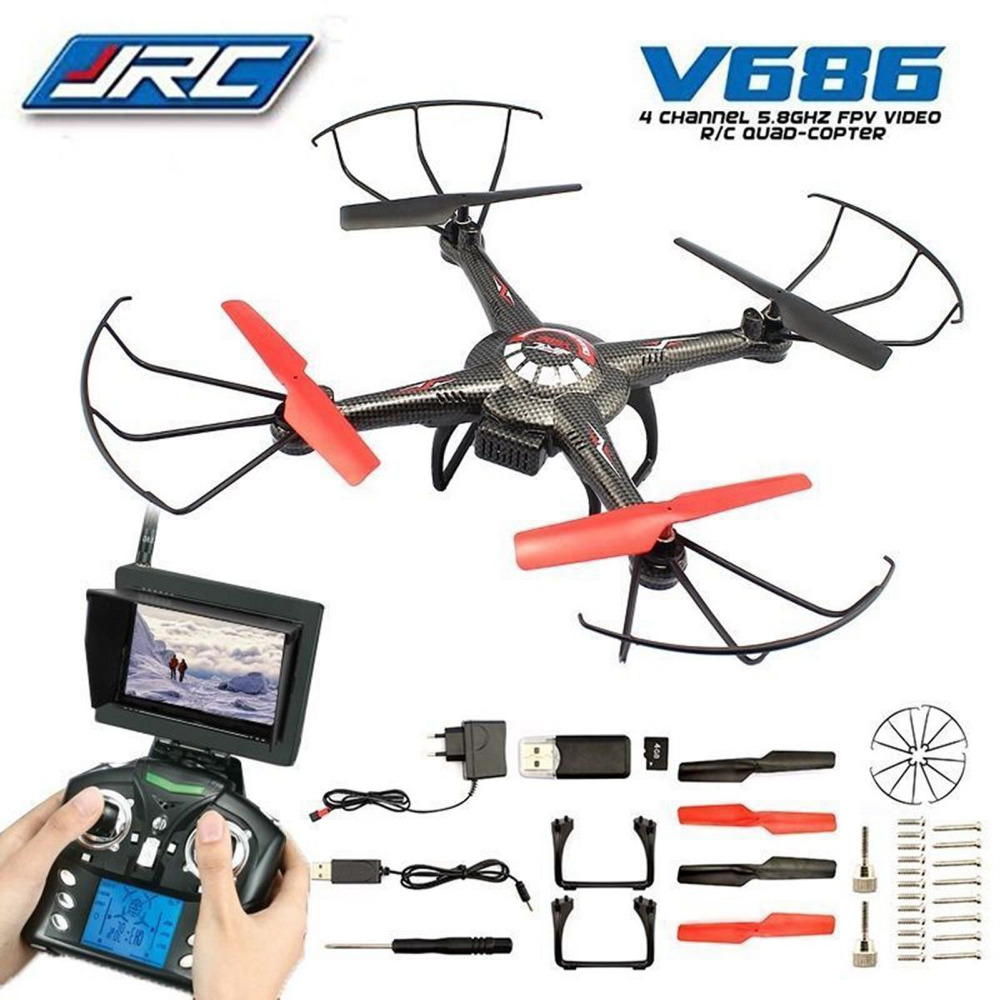 JJRC/WLtoys V686 V686G RC Helicopter 5.8G FPV monitor 4CH 6 Axis Drone RC Quadcopter HD Camera headless mode wltoys q222 quadrocopter 2 4g 4ch 6 axis 3d headless mode aircraft drone radio control helicopter rc dron vs x5sw