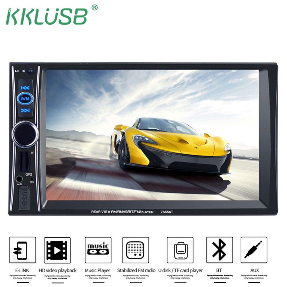 2 DIN 7 HD Car radio Stereo MP3 MP5 Player GPS Navigation Touch FM Radio Support USB/TF/AUX Car Video autoradio Radio recorder ultra thin 7 touch screen lcd wince 6 0 gps navigator w fm internal 4gb america map light blue
