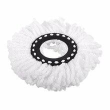 Для домашнего использования, супер мягкая микрофибра, для уборки дома, Швабра для пола, головки, вращение на 360 градусов, замена, круглые швабры для пола