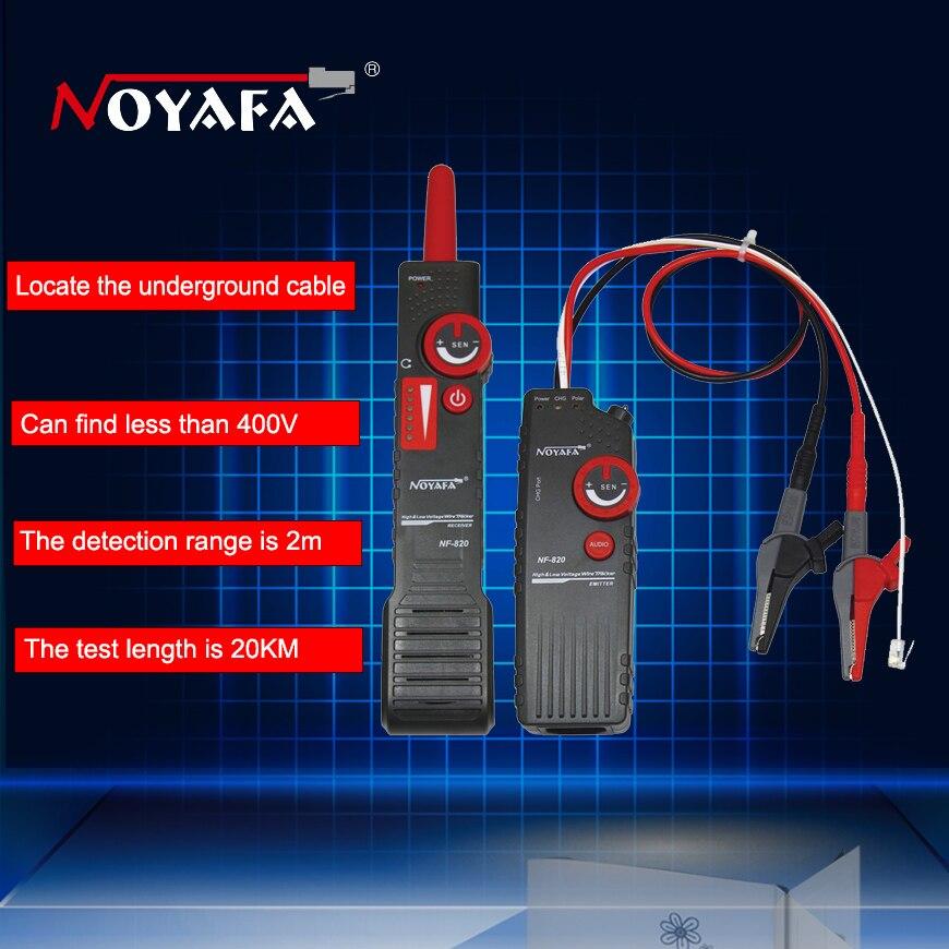 Noaya AC400V высокой и низкой Напряжение Кабельный тестер Подземный кабель Finder против вмешательства провода Tracker RJ45 RJ11 BNC тестер NF-820