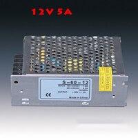 AC110V 220V DC12V 5A 60W Power Supply LED Strip Adapter Lighting Swtich Transformer Drive No Waterproof