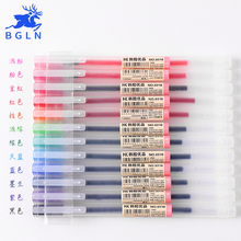 12 Pcs/lot 0.5mm Gel Pen Set Colorfule Cute Ink Maker School Office Supply Muji Style Colours Papelaria Material Escolar