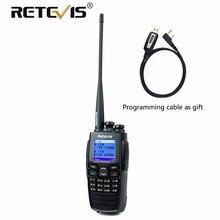 DPMR GPS Digital Walkie Talkie Retevis RT2 VHF UHF Dual Band 5W 256CH Scrambler VOX Ham