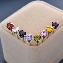 Stud earrings,Miniature titanium steel candy heart shaped earnail,Titanium steel jewelry.Fashion jewelry