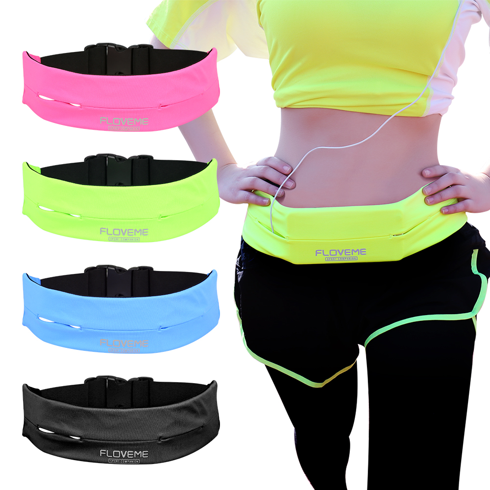 FLOVEME Universal Gym Waist Bags For iPhone 8 7 7s Plus 6 6s Plus 5.5 Inch Running Sport Phone Cases Belt Bag Pouch for iPhone