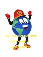 Toprak küre maskot kostüm yetişkin boyutu enviornment koruma tema mutlu sağlıklı karikatür toprak gezegen kostümleri karnaval 2928