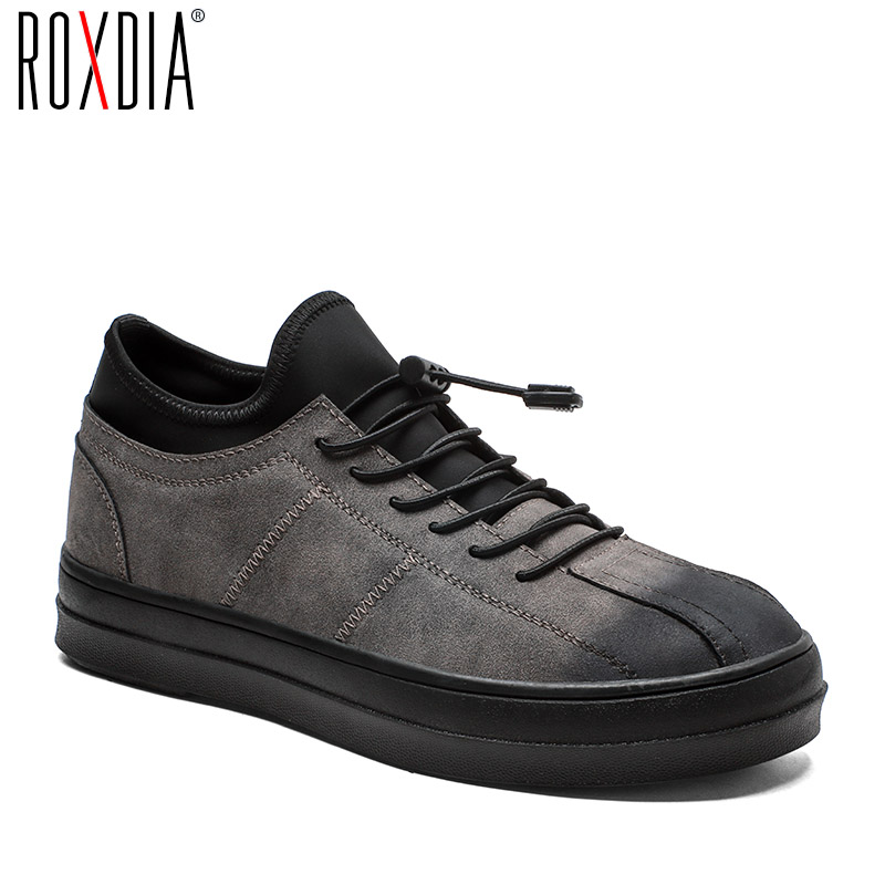 ROXDIA men casual shoes new fashion mens PU leather flats water proof lace up brand shoes for men spring autumn RXM071 цена