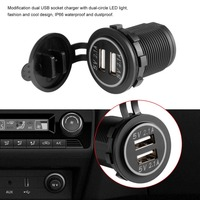 4.2A DC 12V/24V Dual USB Charger Power Adapter Outlet Power for Car Boat Motorcycles Auto Truck ATV Phone LED Light