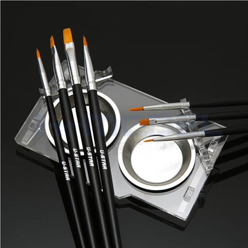 USTAR модель Живопись Pen моделирование Кисточки комплект с Цвет блюдо и стойки Средство моделирования хобби отделка Инструменты аксессуар