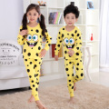 V-TREE NEW children thermal underwear cartoon kids long johns cotton thermal underwear for boys girls childrens ski suit