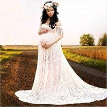 Для беременных реквизит для фотосъемки, модное женское платье для беременных, длинные платья, одежда для душа, плюс размер, кружево+ Хлопковое платье
