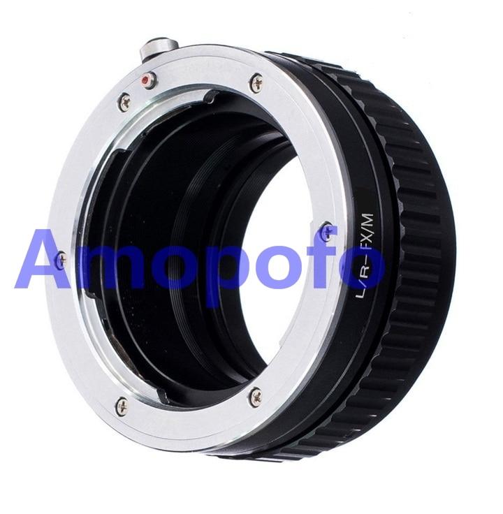 AMOPOFO Pour Leica R L/R Lentille à Fujifilm FX X-Pro1 X-E2 Adaptateur Macro Mise Au Point Hélicoïdale L/R-FX/M Adaptateur