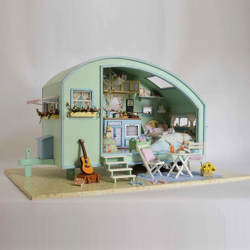 Жиһаз DIY қуыршақ үйі Wodden Miniatura Doll - Қуыршақтар мен керек-жарақтар - фото 4