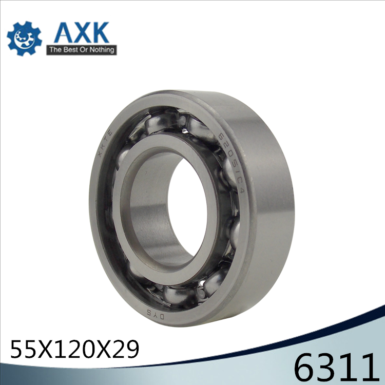 6311 Bearing 55*120*29 mm ABEC-3 P6 ( 1 PC ) For Motorcycles Engine Crankshaft 6311 OPEN Ball Bearings Without Grease