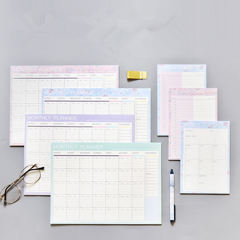 2019 2020 Notebook Kawaii Daily Weekly Monthly Yearly Calendar Planner Agenda Schedule Organizer Journal Book School A4 Flower