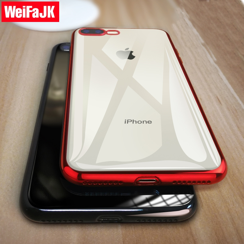 WeiFaJK Phone Case for iPhone 8 7 6 Plus 6s Silicone Soft Coque Luxury TPU Full Cover Case for iPhone 6 7 7 Plus 8 8 Plus X Case essager ultra magnetic adsorption phone case for iphone xs max xr x 10 8 7 6 6s s r plus coque luxury magnet glass cover fundas