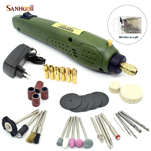 For Dremel Grinding Electric Drill  SANHOOII Rotary Power Tool 16000rpm Portable Electric Drill 0.5-3.15mm Drilling Accessories