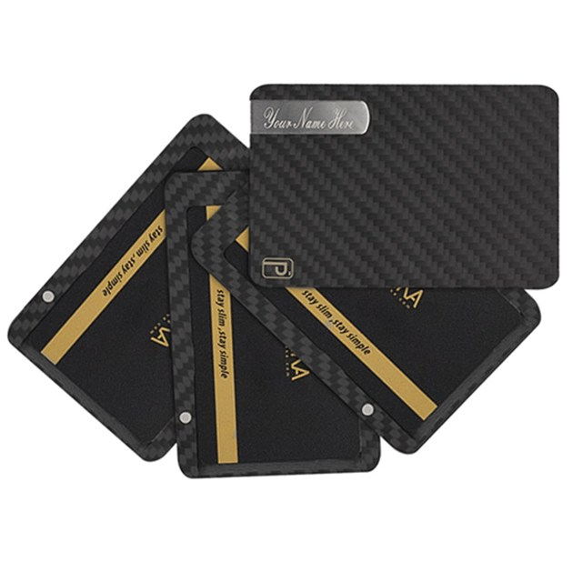 pitaka carbon fiber magnetic wallet minimalist customs slim card holder rfid blocking coins credit best mens - Magnetic Card Holder