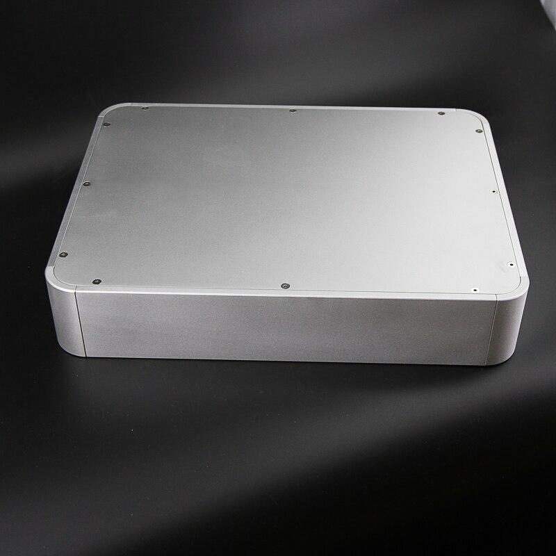 BZ4308E Arredondado Chassi De Alumínio Amplificador Decodificador De Áudio DAC Recinto Caso Caixa do Amplificador de Tubo 430mm * 80mm * 330mm
