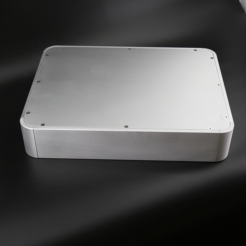 BZ4308E Rounded Aluminum Chassis Preamplifier Enclosure Audio DAC Decoder Case Tube Amplifier Housing 430MM*80MM*330MM