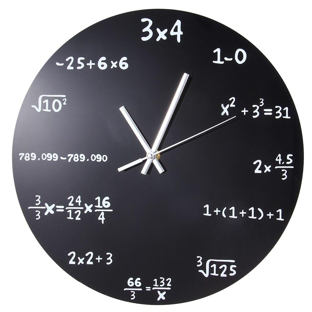 Lavagna Da Parete Cucina us $11.78 40% di sconto|orologio pop quiz di matematica lavagna creativa  soggiorno moderno decorazioni per la casa aritmetica mostra orologio da