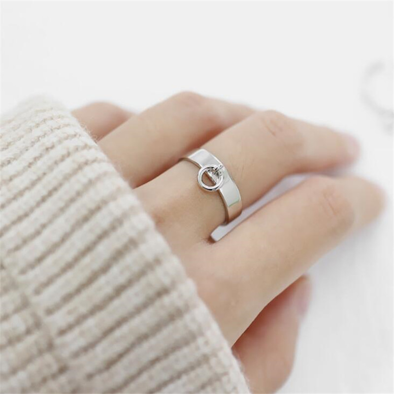 47888cf3b לחץ להגדלה. Authentic 925 Sterling Silver Jewelry Chic Hollow Small Circle  Open Rings for Women